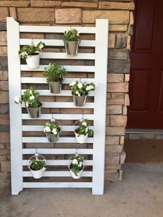 Turning a Crib into a Vertical Garden