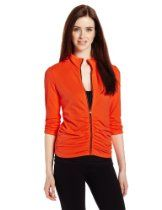 Calvin Klein Performance Womens Rouched 3/4 Sleeve Jacket