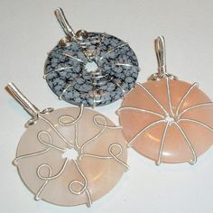 Free Wire Jewelry Tutorials | Wire Wrapped Donuts by Abby Hook | Jewelry Pattern