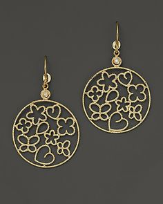 """Roberto Coin """"Bollicine"""" 18K Yellow Gold and Diamond Earrings   Bloomingdale's"""
