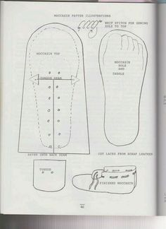 Moccasin pattern