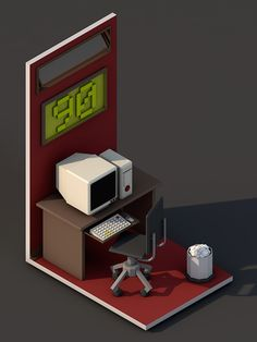 90's Room by Abstract Arts, via Behance
