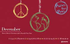 'Peace' wallpaper, Pray for Paris Merry Christmas Holiday Peaceful New Year ornament wallpaper  Designed by Jon Letourneau from the USA.