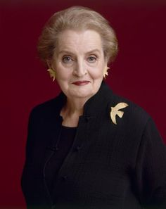 Madeleine Albright:  the first woman to become the United States Secretary of State