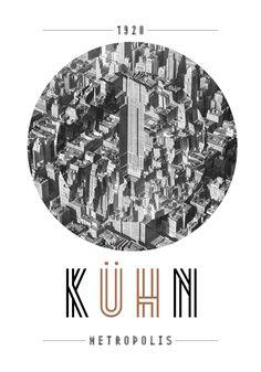 Inverted Empire State Building (graphic from presentation of Josip Kelava's Metropolis font). Art Deco Design, Type Design, Layout Design, Logo Design, Fritz Lang, Alphabet Design, Design Graphique, Illustrations And Posters, Poster