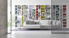 Living Room Storage Ideas on Living Room Storage Ideas White Bookcase Contemporary Bookcase, Modern Bookcase, Contemporary Furniture, Shelf Furniture, Design Furniture, Home Furniture, Living Room Storage, Living Room Decor, Living Rooms