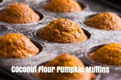 Coconut Flour Pumpkin Muffins  #glutenfree #paleodiet #GAPS