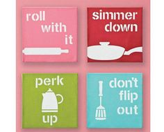 Cute for the kitchen! Maybe add a chalk decal to keep a grocery list in there somewhere.