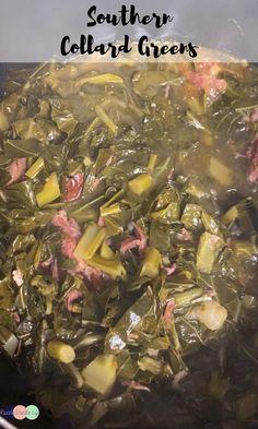 Southern Collard Greens, Collard Greens Recipe, Side Dish Recipes, Veggie Recipes, Healthy Recipes, Southern Sunday Dinner Ideas, Collar Greens, Cream Cheese Stuffed Jalapenos, Marijuana Recipes