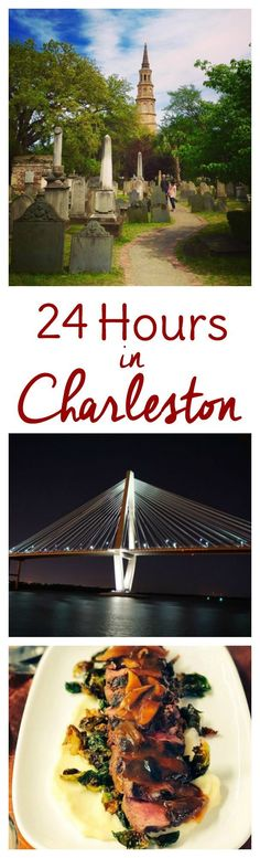 Charleston is one of a kind, but what if you only have 24 hours in Charleston? Whether it's due to a layover or a work trip (or if you're just passing through on a road trip) here's how to make the best of Charleston in a day. Things to do and where to eat!