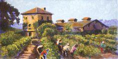 Итальянская Живопись виноградник - Ил Граппа Дэвид Циммерман