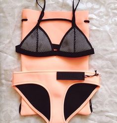 Peach bathing suit to die for
