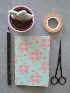 Prudence, Bloom. Saddle stiched mini notebook from my stationary line, available at: http://www.nordicdesigncollective.com/designer/sabina-w-gustrin.html