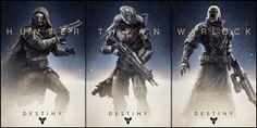 The three classes in Destiny