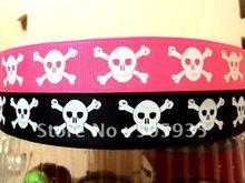 50Y352 david ribbon 7/8 '' skull you pick grosgrain ribbon hairbows printed ribbon freeshipping(China (Mainland))