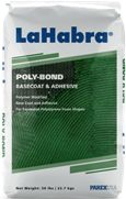 Poly-Bond is for use as a basecoat and adhesive for expanded polystrene foam shapes. These shapes are typically used as exterior decorative trim such as pop-outs, plant-ons, cornices and quoins. LaHabra Poly-Bond is offered in 2 textures: * Coarse: for maximum keying strength * Fine: for complex architectural details