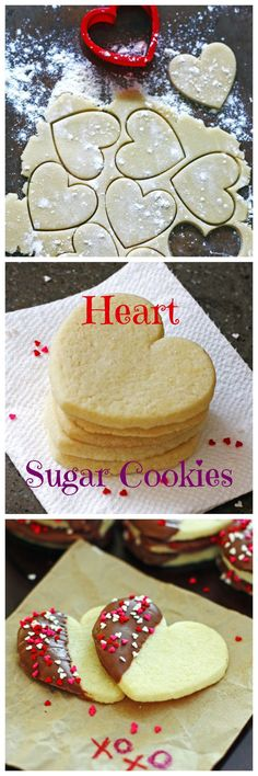 Heart Sugar Cookies ~ Make a batch for someone you love today!
