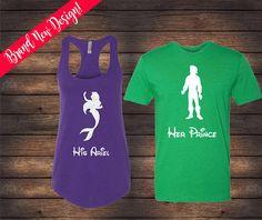 His Prince Eric Her Ariel Shirts Little Mermaid Shirts