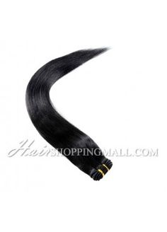 "#1 10""-24"" Indian Remy Hair wefts extensions Yaki [WT1YK]"