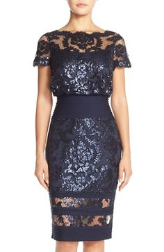 Tadashi Shoji Sequin Embroidered Blouson Dress (Regular & Petite) available at #Nordstrom