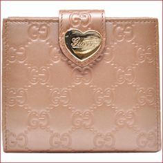 激安グッチ 財布 GUCCI 二つ折り財布 レディース(ハートラインHEART) グッチシマレザー ウィンターローズピンク