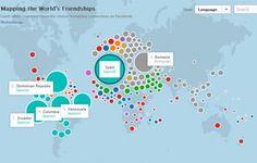 El mapa mundial de las amistades en Facebook