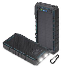 Hobest Solar Charger with Led Flashlight, Solar Portable Battery Charger with Dual USB, Output Max Portable Phone Charger External Battery Pack Power Bank for Outdoors Solar Powered Phone Charger, Solar Phone Chargers, Portable Phone Charger, Solar Battery Charger, Portable Battery, Led Flashlight, Costco, Phone Accessories, Whitening