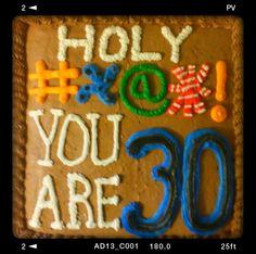 30th Birthday Cake 30th Birthday Cakes For Men, Husband 30th Birthday, Surprise 30th Birthday, 30th Party, Adult Birthday Party, 30th Birthday Parties, Man Birthday, Birthday Gifts, Fancy Cakes