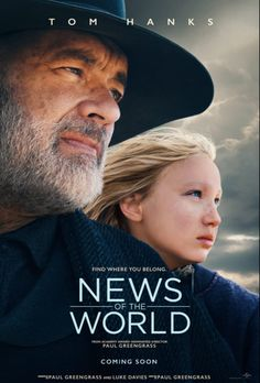 Watch News of the World Movie Online 2020 - News of the World Movie Online Streaming A Civil War veteran agrees to deliver a girl, taken by the Kiowa people years ago, to her aunt and uncle, against her will. They travel hundreds of miles and face grave dangers as they search for a place that either can call home. #movies #movie #actionmovies #action_movies #newsoftheworld 2020 Movies, New Movies, Movies Online, Watch Movies, Action Movies To Watch, Action Film, Hindi Movies, Ray Mckinnon, Elizabeth Marvel