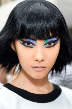 Chanel Spring 2014 - Makeup Artist Peter Phillips - Beauty and Makeup Trends Spring 2014 - Elle Makeup Trends 2014, Beauty Trends, Beauty Hacks, Make Up Looks, Skin Makeup, Beauty Makeup, Hair Beauty, Types Of Makeup Looks, African Wedding Hairstyles
