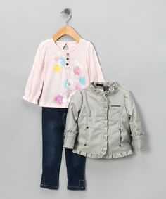 Great deal, you get Calvin Klein jeans, top and jacket. Gray Jacket Set $32.99, a Fall Essential at Zulily.com