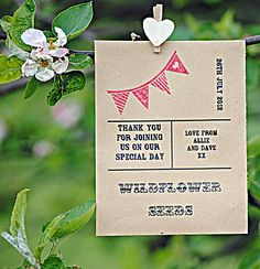 Personalised Vintage Bunting Seed Favour