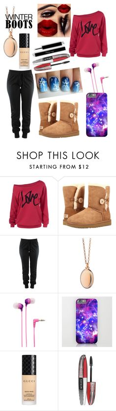 """""""Winter Outfit"""" by mysticx ❤ liked on Polyvore featuring UGG, Monica Rich Kosann, Sony, Gucci and L'Oréal Paris"""