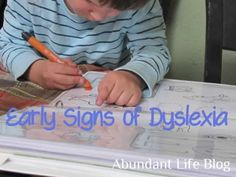Early Signs of Dyslexia