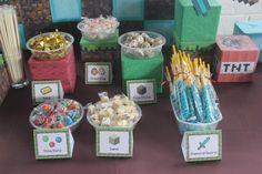 candies at the dessert buffet