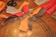 The most important part of this burlap wreath tutorial, it shows you the wreath form that you need.
