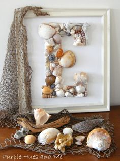 DIY Family Monogram Shell Wall Art !