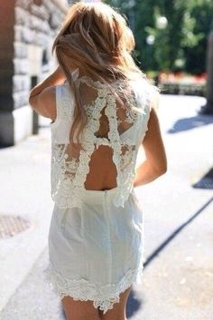 46bb406642e lace open back dress  Love anything in Lace