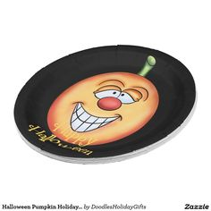Halloween Pumpkin Holiday paper plate