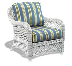 White Wicker Chair: Lanai Style #white #wicker #furniture Pinned By  Wickerparadise.