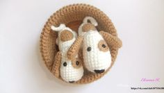 Crochet toy dog amigurumi