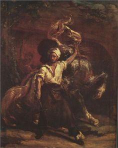 The Blacksmith's Signboard - Theodore Gericault