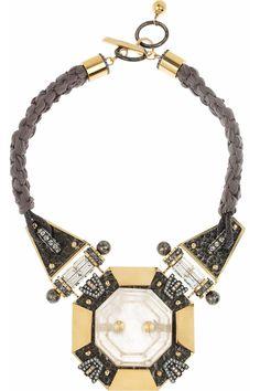 lanvin braided necklace