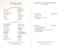 Programa de la XV Semana de Música Religiosa de Cuenca 1976 Concierto de polifonía religiosa medieval en la Iglesia románica de Arcas