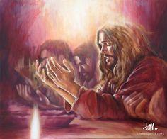 Az Oltári Szentség megalapítása. Bár csak gyónás után vehetjük magunkhoz mi emberek