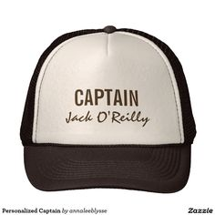 Your Custom Trucker Hat - Brown and Tan Captain Fishing Cap