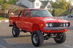 """HNG: 1975 Datsun 620 Pickup Truck w/Buick Small. - HNG: 1975 Datsun 620 Pickup Truck w/Buick Small Block """" """"This is an amazing truck based on a perfect 1975 Datsun pick up {never needs to be smogged}, this truck has been transformed in to something. Mini Trucks, Custom Trucks, Cool Trucks, Pickup Trucks, Toyota 4x4, Toyota Trucks, Toyota Hilux, Nissan Pickup Truck, Nissan Trucks"""