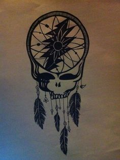 grateful dead dreamcatcher. awesome. not sure who's art this is - but you can find lots of GD goods on my etsy - chellybeanies.etsy.com