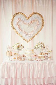 Pink and gold dessert table #weddingdecor #dessertbar #pinkwedding #goldwedding #desserttable