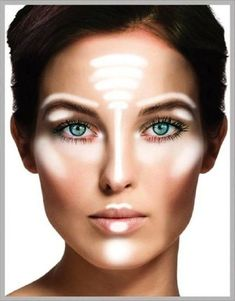 This is simple yet an effective way to use highlighter. Now remember we're talking highlighter, not contouring! I want to remind you that less is more very easy to overdo.don't fret, wash off begin again! This is called make-up when there's too much of